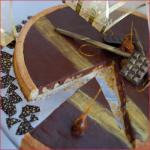 Tarte chocolat au lait caramel et cacahuète de Pierre Hermé