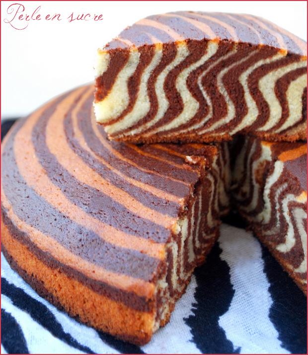 Gateau Tigre Zebre Ou Encore Le Zebra Cake Perle En Sucre