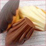 Madeleines sur coque en chocolat