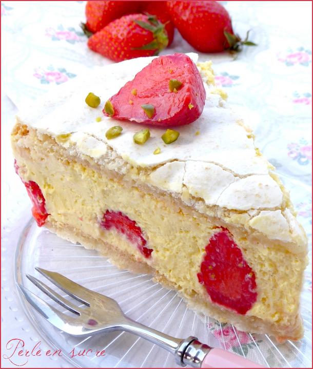 Part fraisier macaronné