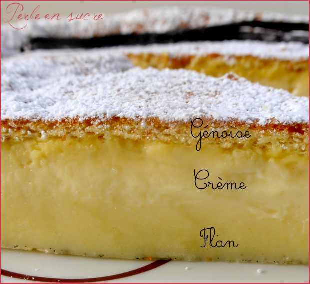 gâteau magique à la vanille - perle en sucre
