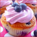 Cupcakes aux myrtilles (blueberry cupcake)
