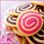 Sablés spirale vanille/chocolat & vanille/fraise