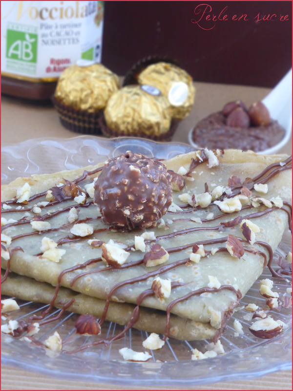 Crêpes au Ferrero Rocher