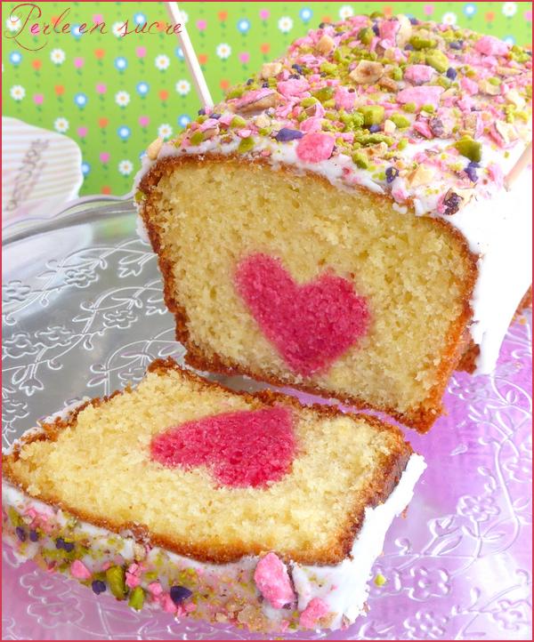 cake coeur caché spécial fête des mères - perle en sucre