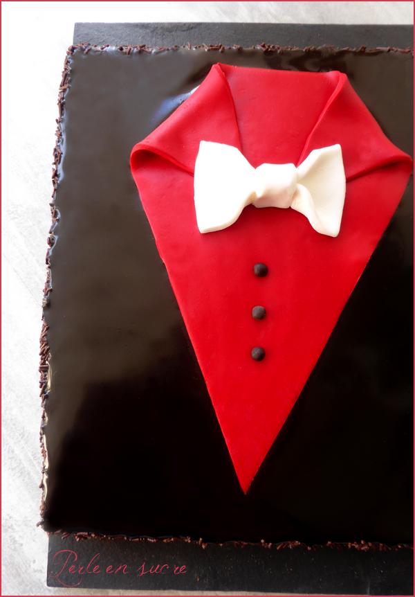 """Gâteau au chocolat """"smoking"""" spécial fête des pères"""