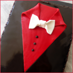 Gâteau au chocolat «smoking» spécial fête des pères