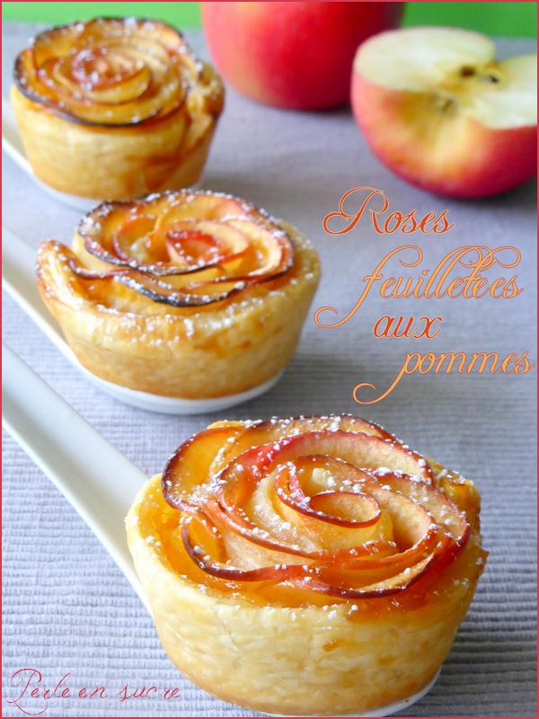 Roses Feuilletees Aux Pommes Perle En Sucre