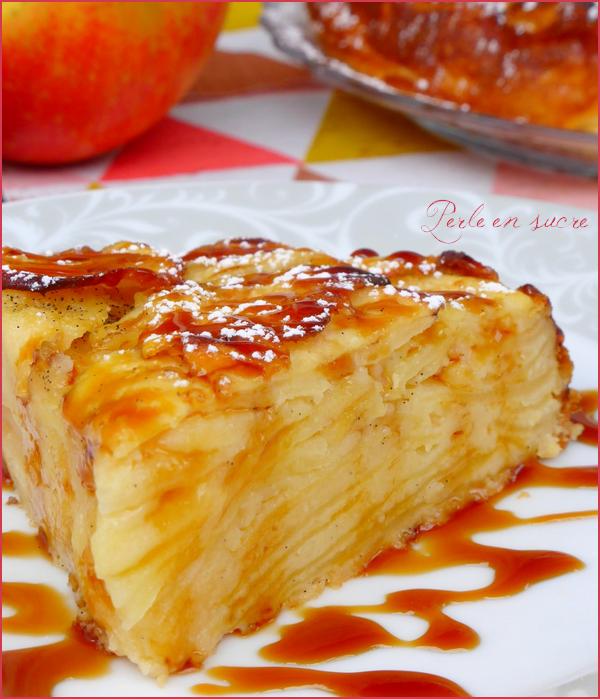 Gâteau Invisible Aux Pommes Perle En Sucre