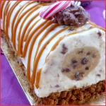Bûche de Noël facile rapide et sans cuisson (spéculoos, cheesecake aux daims, cœur cookie dought)