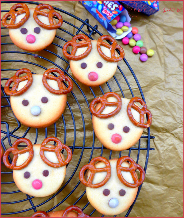 Biscuits sablés Rennes de Noël