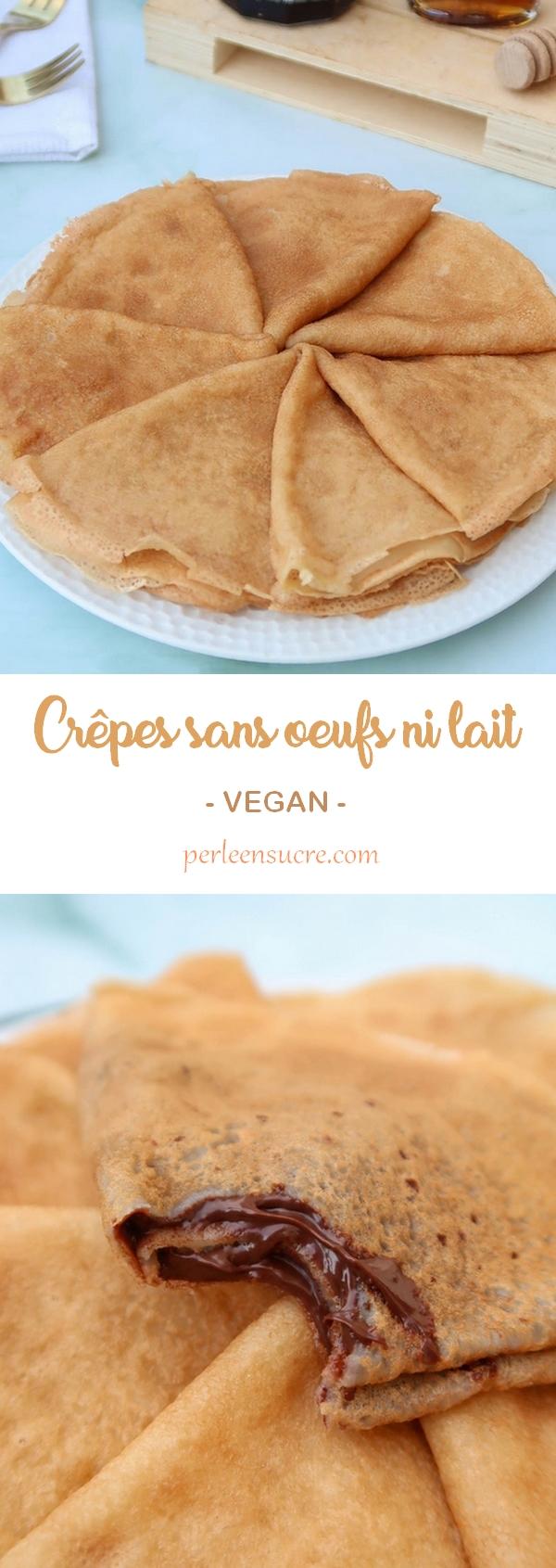 Crêpes sans oeuf ni lait (vegan)