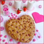 Cookies aux fraises et au chocolat blanc {Saint Valentin}