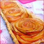 Tarte aux pommes bouquet de roses {Saint Valentin}