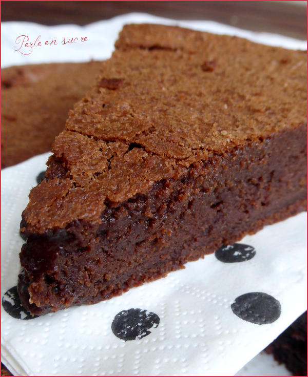 gâteau au chocolat suzy de pierre hermé - perle en sucre