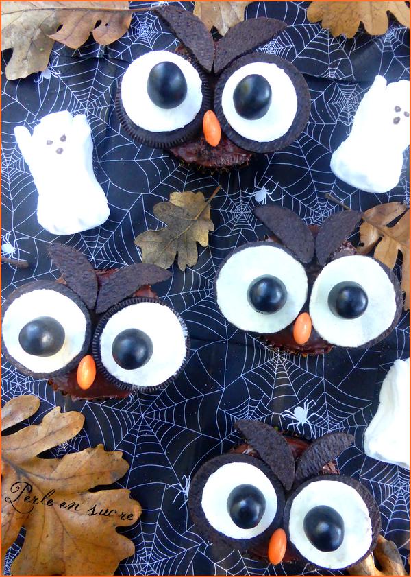 Cupcakes hiboux Halloween