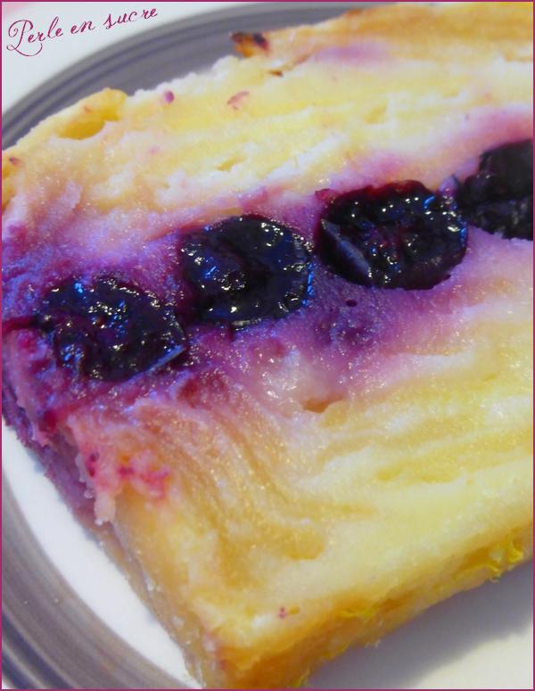 Gâteau invisible citron myrtille