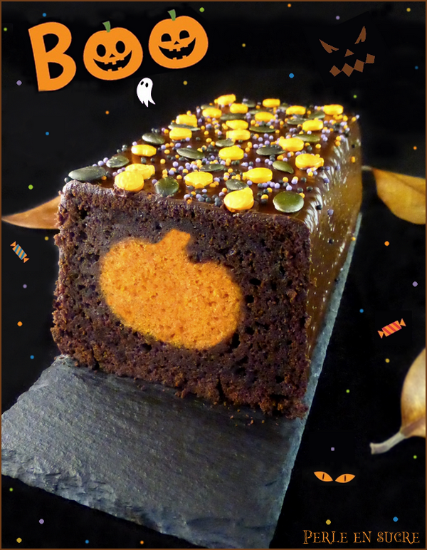 Cake surprise citrouille {Halloween}