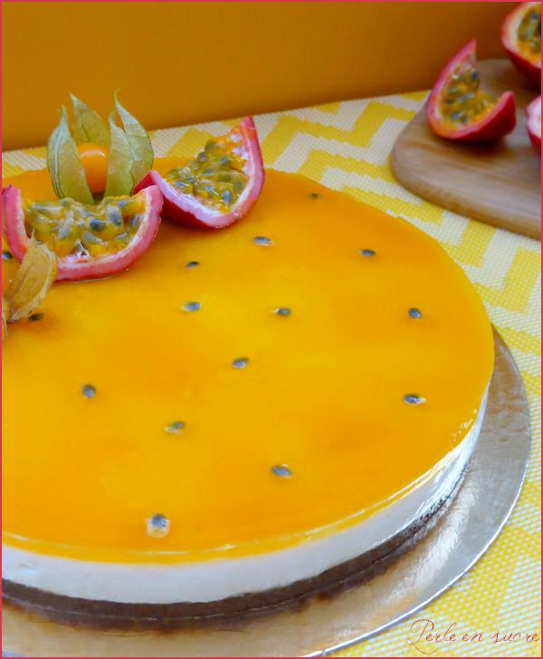 """""""Cheesecake"""" aux fruits de la passion sans cuisson {vegan}"""