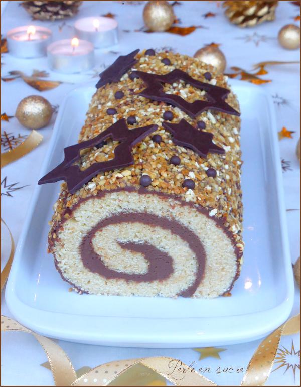 Bûche de Noël roulée au chocolat {vegan}