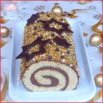 Bûche de Noël roulée au chocolat facile et rapide {vegan}
