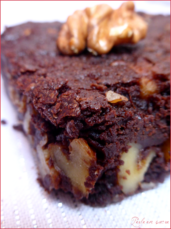 Brownie vegan {sans oeufs, sans lait, sans gluten}