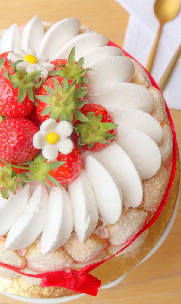Charlotte aux fraises {vegan}