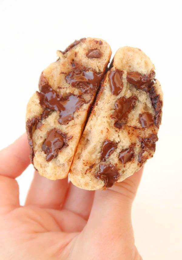 Cookies moelleux banane chocolat {vegan}